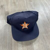 Vintage UII Houston Astros Snapback Hat Texas MLB Baseball VTG90 Blue Cap