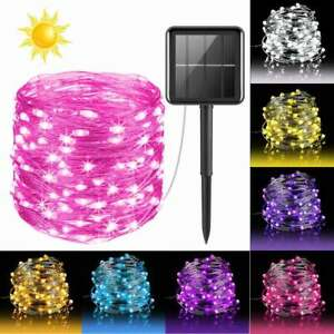 100/200/300 LED Solar String Fairy Lights Garden Outdoor Party Waterproof Lights