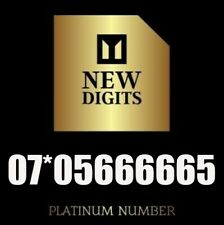 GOLD VIP SPECIAL PLATINUM BUSINESS MOBILE PHONE NUMBER SIM CARD ( 666 )