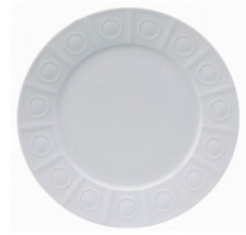 """Philippe Deshoulieres Osmose Extra White Salad plate 9""""  new with tags"""
