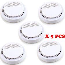 5X Wireless Smoke Detector Home Security Fire Alarm Sensor System Cordless White