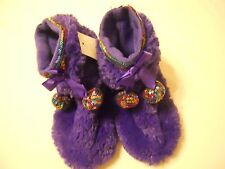 Girls Slipper Shoes 12/13 Kids Capelli New York Purple
