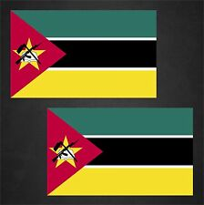 2 Mozambique Flag Decals Stickers
