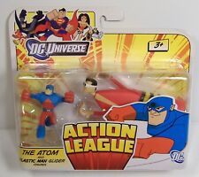 THE ATOM & PLASTIC MAN GLIDER FIGURE SET DC UNIVERSE ACTION LEAGUE MOSC 2011 HTF
