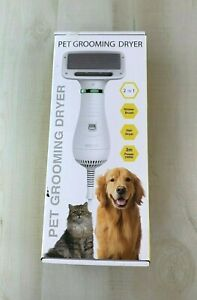 2 In1 Pet Dog Cat Hair Dryer Blower Slicker Brush Portable Grooming New in Box