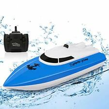 Rc Boat, Remote Control Boats for Pools and Lakes, 2.4 Ghz Mini Boat Blue-2.4g