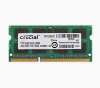 Crucial 4GB PC3L-12800 DDR3L 1600MHz Memory For Apple MacBook Pro Imac Mac Mini