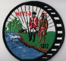 BSA Patch, Me-Te-A Trail Trek, Angola Indiana, MINT Patch, Mill Wheel Version