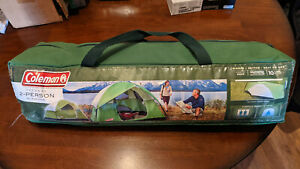 Coleman Sundome Camping Tent | 2 Person, 7' x 5', Green + Gray Practically New