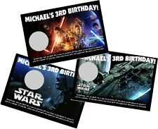 STAR WARS PERSONLIZED SCRATCH OFF OFFS PARTY GAME GAMES CARDS BIRTHDAY FAVORS