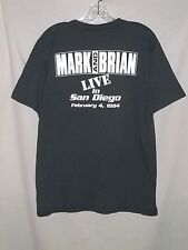Mark & Brian Live In San Diego 1994 KCLX Classic Rock Radio  Adult Large T-Shirt