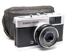 Olympus Trip 35 (1976) REFURB/SERVICED - Black Carbon Fibre - GOOD COND & Case