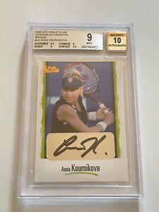 2008 Ace ANNA KOURNIKOVA Grand Slam SIGNED Legends AUTOGRAPH Tennis BGS 9 Auto