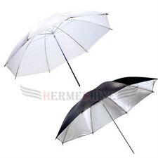 Two umbrella kit-33?Black Silver Reflector and 33?white translucent umbrella