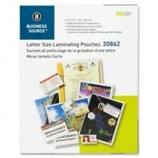 """2000 Letter Laminating Pouches 9"""" x 11.5"""" Laminator 5 Mil Business Source 20862"""