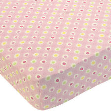 New Too Good by Jenny LOVE BUG FLORAL Crib Fitted Sheet ~ Pink, Green, Yellow