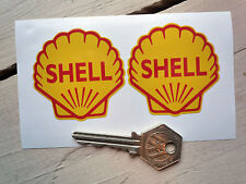 "SHELL Classic Racing Car STICKERS 2"" Pair Motorcycle Bike Ferrari F1 Race Rally"