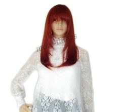 Cosplay party wigs Sexy Burgundy Red Long Straight hair Ladies Full Wig