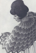 Vintage Crochet PATTERN to make Ripple Shoulder Cape Wrap Shawl RippleCape
