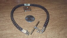 VICTORIAN MOURNING HAIR WOVEN WATCH FOB CLASP UNTESTED GOLD TONE