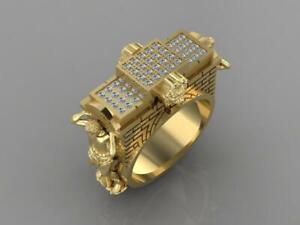 Körper Bauherr Herren Ring Unisex Ring Diamantring Löwe Ring Osmanisch Ring n360