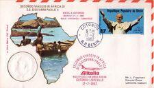 BENIN - VISITA DI SUA SANTITÀ GIOVANNI PAOLO II° - 1982 - RARA BUSTA FILATELICA