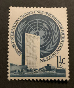1951 United Nations 1st Reg Issues 1 1/2c Green MLH SG2