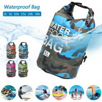PVC Waterproof Dry Bag Sack Canoe Floating Boating Camping Large Back Bag FJP