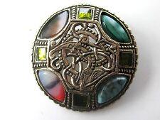 Signed Miracle England Multi-Stone Pin/Pendant