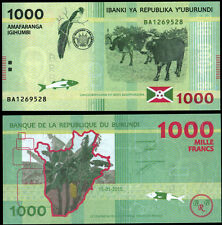 BURUNDI P51 1000 FRANCS***ND 2015***NEW***UNC GEM***SEE FULL DESCRIPTION
