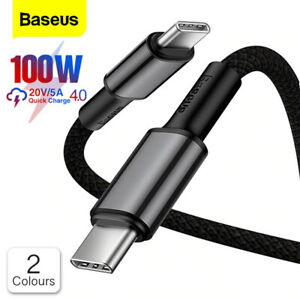 Baseus USB Type C to Type C Cable 100W PD 5A QC4.0 Fast Charge Data. 1m 2m