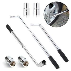 Extendable Wheel Brace Wrench Telescopic Car Van Socket Tyre Nut 17 19 21 23mm