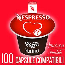 100 CAPSULE CaffeMonAmour CIALDE CAFFE' ESPRESSO COMPATIBILI NESPRESSO - AMOROSO