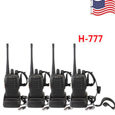 Hot Sale 4pcs Retevis H777 Walkie Talkie UHF 400-470MHz 5W 16CH Two Way Radio US