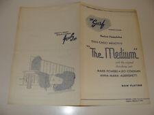 Chicago Surf Theatre 1950  Program The Medium Gian-Carlo Menotti Marie Powers
