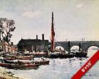 KINGSTON BRIDGE LONDON OLD ENGLAND ENGLISH BRITISH ART CANVAS PAINTING PRINT