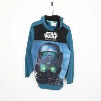 STAR WARS T.V. Rogue One Big Logo Hoodie Sweatshirt Blue | Medium M