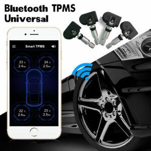 Universal Car Bluetooth TPMS Tire Pressure Monitor System 4 Internal Sensors