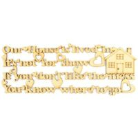House Warming Gift, Our Home Quote, Wooden MDF Craft Sign with Shapes - A113