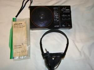 Vintage GPX Deluxe AM/FM Weather TV Broadcast Portable Radio Model A303