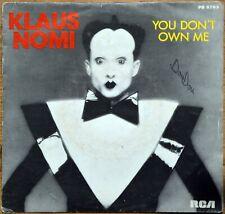 45t Klaus Nomi - You don't own me