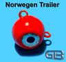 Norwegen Trailer, 60g, 90g 115g 170g Sea Trailer, Kugelblei mit Öse, Jigkopf