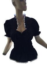 Figurbetonte Damenblusen, - tops & -shirts mit Rüschen aus Baumwollmischung