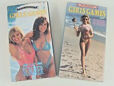 """Lot of 2, New Sealed, """"Girls Games of Summer"""" 1st & 4th Annual VHS, Vintage Rare"""
