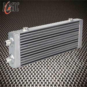"""Universal Dual Pass Bar & Plate Oil Cooler Medium - Silver Core:14""""x5.5""""x1.58"""""""