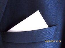 Blanc Poche Carré Mouchoir Hanky en coton blanc Mod Style. Unisexe Mariage