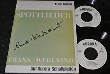 ERNST BUSCH Frank Wedekind Spottlieder / DDR Doppel SP 1964 AURORA 580006/007