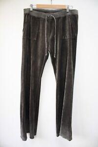 Vintage Y2K Juicy Couture Velour Track Suit Bottoms, XL (UK 14)