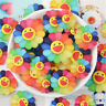 10x Resin Funny Face Sunflower Shaped Cabochons Decorations DIY Jewellery Making
