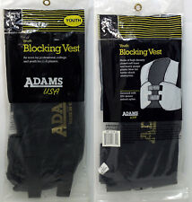 Adams Youth Blocking Football Vest Black Jr-1526 (S) Small Brand New - Free S&H